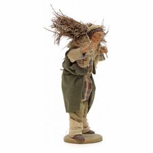 Uomo con legna 14 cm presepe terracotta Napoli s4