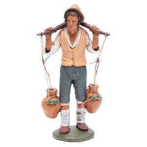 Presepe Terracotta Deruta: Uomo porta acqua presepe Deruta 30 cm in terracotta