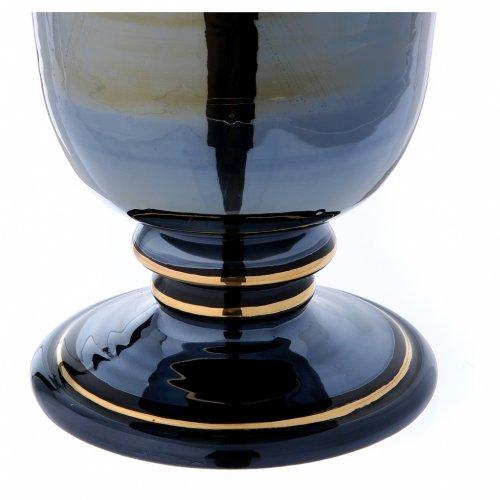 Urna funeraria ceramica nero oro lustri s6