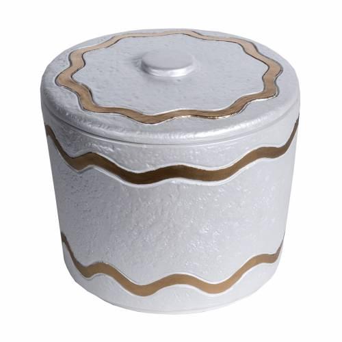 Urna funeraria marmo sintetico finitura madreperlata dorata s1