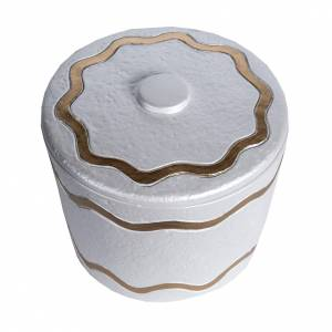 Urna funeraria marmo sintetico finitura madreperlata dorata s2