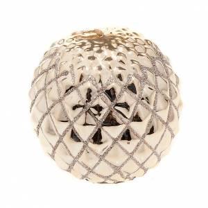 Velas Navideñas: Vela oro Navidad esfera