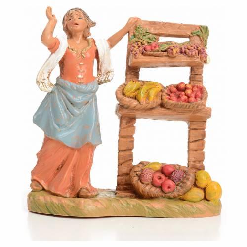 Vendedora de fruta 9,5 cm Fontanini s1