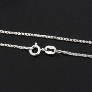 Venetian chain in rhodium-plated sterling silver 40cm s2
