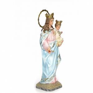Vergine Ausiliatrice 80 cm pasta di legno dec. elegante s4