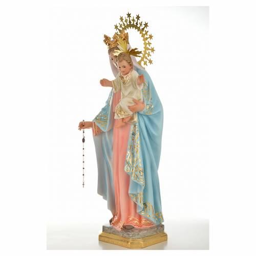 Vergine del rosario 50 cm pasta di legno dec. superiore s6