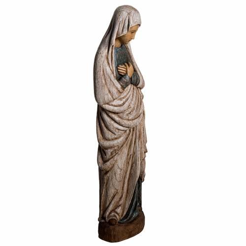 Vergine dell'Annunciazione 80 cm legno dipinto Bethléem s2