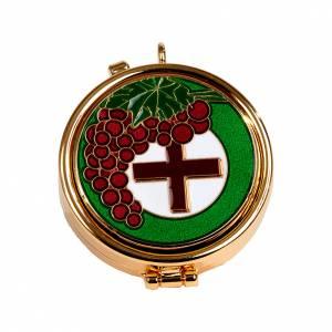 Hostiendosen und Hostienbehälter: Versehpatene mit Trauben und Kreuz