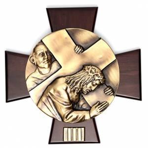 Vía Crucis 14 estaciones latón fundido sobre placa s3
