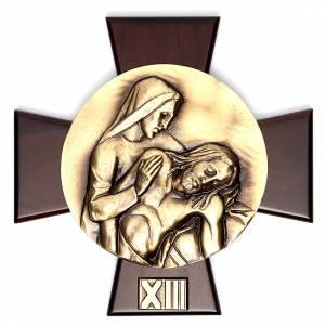 Vía Crucis 14 estaciones latón fundido sobre placa s13