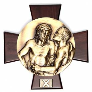 Vía Crucis 14 estaciones latón fundido sobre placa s10