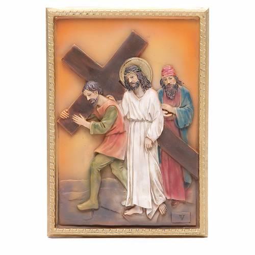 Via Crucis 14 stazioni resina 16,5x11,5cm s5