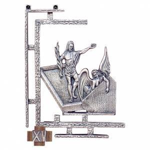 Via Crucis 15 stazioni 30x23 cm ottone argento s1