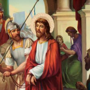 Vía Crucis: Vía crucis altar madera XV estaciones