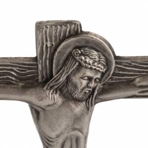 Vía Crucis estailizada 15 estaciones en bronce plateado s4