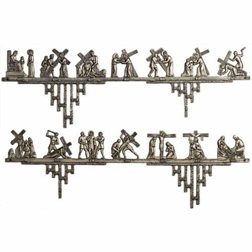 Vía Crucis latón 2 piezas 14 estaciones s1