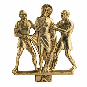 Vía Crucis: Vía Crucis latón fundido 17x20 cm - 15 estaciones