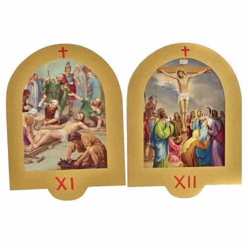 Via Crucis stampa su legno 19x14 cm 15 stazioni s7