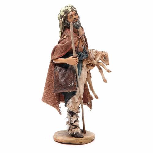 Viandante con oveja Belén Angela Tripi 18 cm s4
