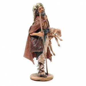 Viandante con pecora Presepe Angela Tripi 18 cm s4