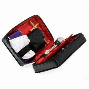 Travel Mass kits: Viaticum set leather case with altar
