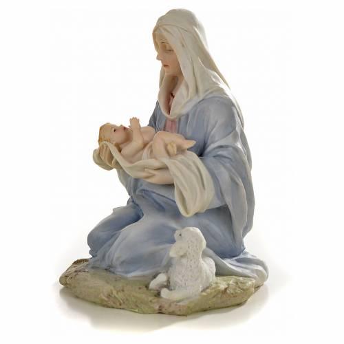 Vierge à l'enfant 15cm statue résine peinte s2