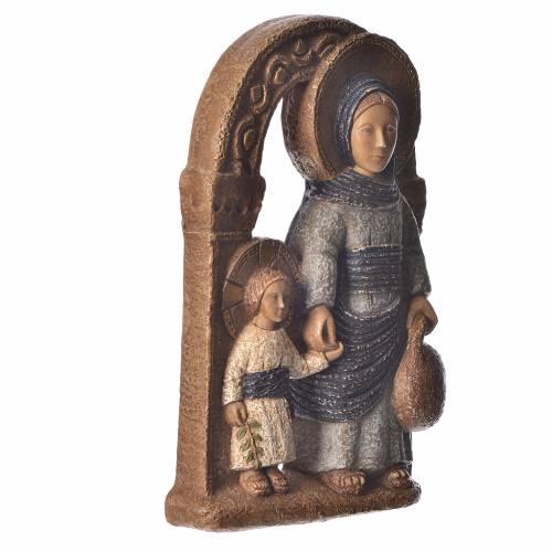 Vierge de Nazareth veste bleue 35cm pierre Bethléem s3