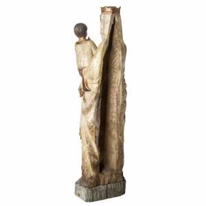 Vierge du Lyonnais statue, 120 cm in painted wood, Bethléem s4