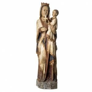 Vierge du Lyonnais statue, 120 cm in painted wood, Bethléem s1