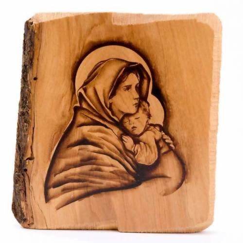 Vierge du repos, bois d'olivier s1