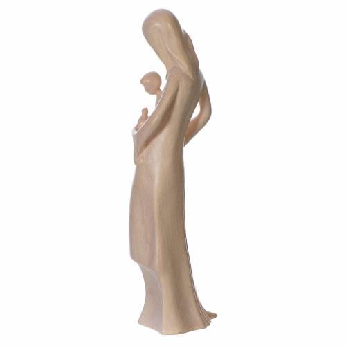 Vierge Enfant et colombe naturel ciré Valgardena s3