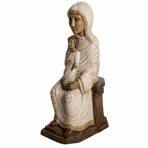 Vierge enfant grande crèche d'autun pierre blanche Bethéem s2