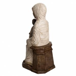 Vierge enfant grande crèche d'autun pierre blanche Bethéem s4