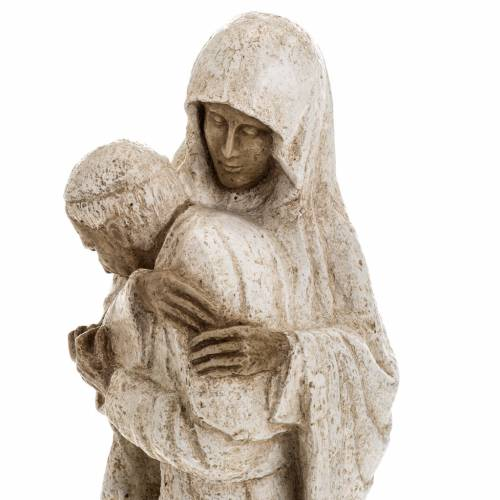 Vierge Marie avec Jean Paul II 27 cm Bethléem s9