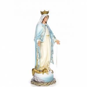 Vierge Miraculeuse 80cm pâte bois élégante s4