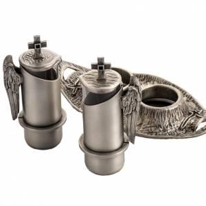 Vinajeras Metal: Vinajera de misa en bronce fundido plateado