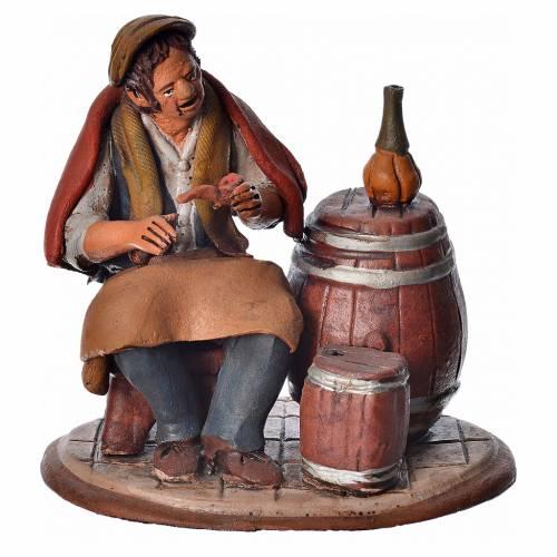 Vintner 18cm Nativity Deruta terracotta s5