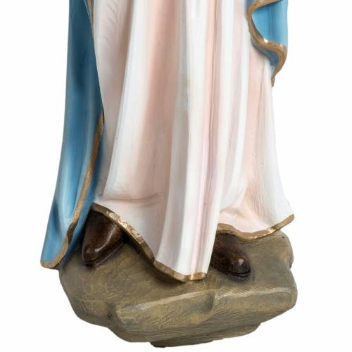 Virgen con el niño para bajorrelieve 60 cm. fibra de vidrio s3