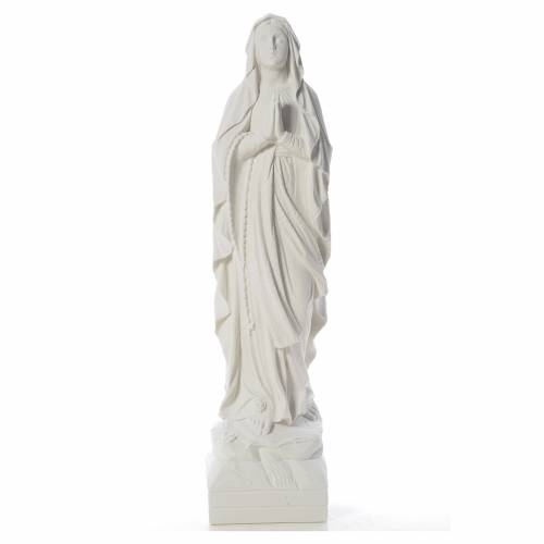 Virgen de Lourdes 70cm polvo de mármol blanco s1
