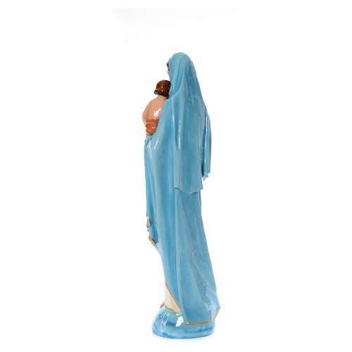 Virgin Mary with Baby statue 120cm in coloured marble s3