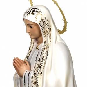 Virgin of Fatima wood paste 120cm, elegant finish s4