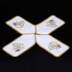 Voile de ciboire blanche à croix, Chi-Rho s3