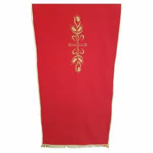 Voiles de lutrin: Voile lutrin tissu Vatican polyester broderie croix et épis