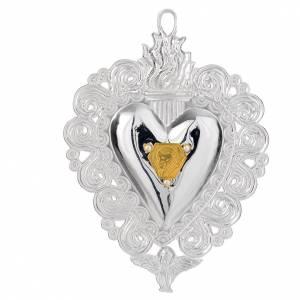 Ex-Voto: Votive heart with Pope John Paul II 9.5x7.5cm