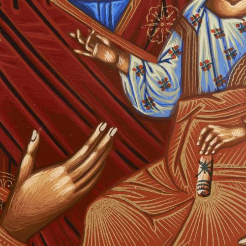 Vreko Fratusa, Greek icon, screenprinted and painted s3