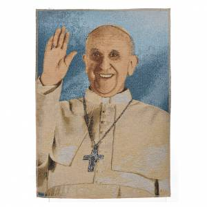 Wandteppiche: Wandteppich Papst Franziskus 47x34cm