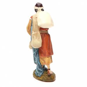 Wayfaring shepherd in painted resin 10cm Landi Collection s2