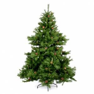 Weihnachtsbäume: Weihnachstbaum mit Zapfen 210cm grün Mod. Prague