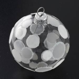 Tannenbaumkugeln: Weihnachtskugel Baum Glas silbrige Dekorationen Durchmesser 6 cm