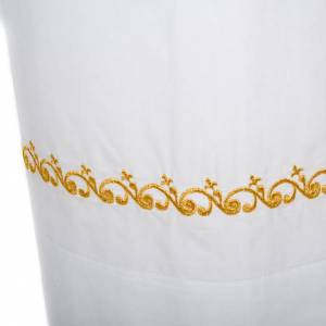White alb cotton gold embroidery s3